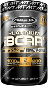 Platinum BCAA Muscletech 200 caplets